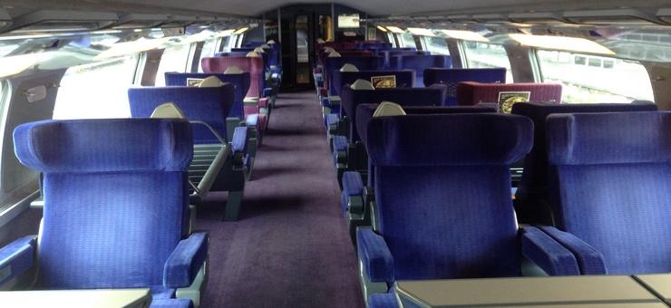 Erste Klasse-Abteil TGV Duplex