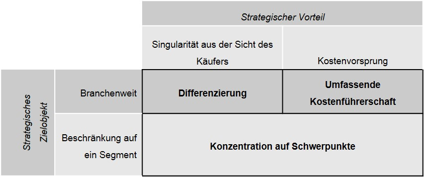 Porter Strategieoptionen